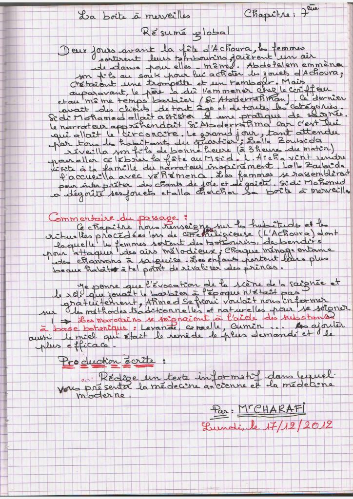 Resume de chapitre 5 la boite a merveille